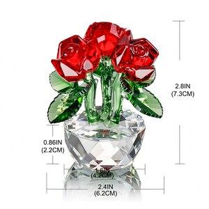 Image 5 - H & D אדום קריסטל רוז האהבה מתנות זר פרחים צלמיות חלומות קישוט עם אריזת מתנה בית חתונת דקור