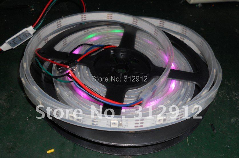 ФОТО smart controller+5m WS2811 LED digital strip,30leds/m with 30pcs WS2811 built-in the 5050 smd rgb led chip