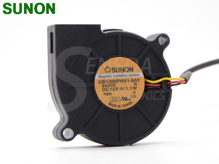 SUNON GB1205PHV1-8AY R 5015 DC 12V 1.1W 3Wire DLP LUMENS DP513 Cooling Fan free shipping for sunon gb1207ptv2 a 13 b4396 f gn dc 12v 2 2w 3 wire 3 pin connector 70mm 70x70x25mm server square cooling fan