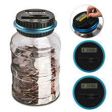 2.5L Bank Counter Money Saving Box Electronic Digital LED Display Counting Coin Jar Storage Box USD EUR GBP Money special offer dh48ss electronic counting relays counter preset