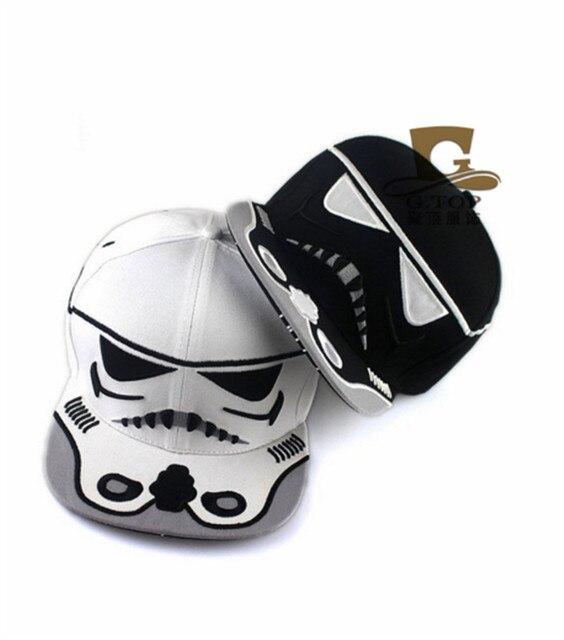 2016 новинка унисекс звездные войны шляпа черный белый воин Snapback бейсболка регулируемые мужчины женщины шляпа хип-хоп шляпа