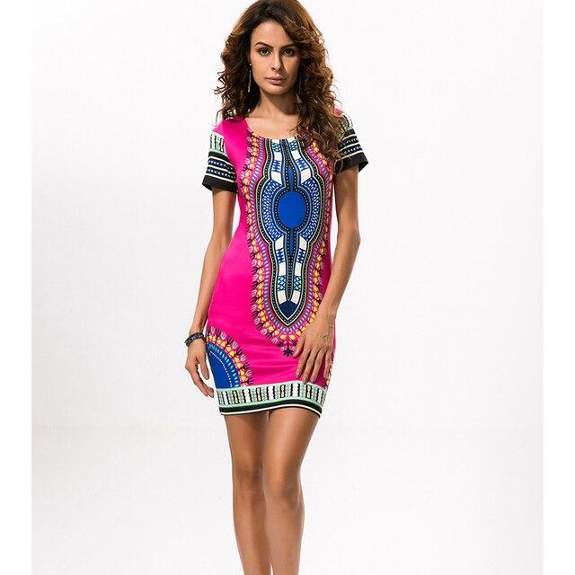 c1bf491a1bd 2018 afrikanischen Print Kleider für Frauen Afrika Kleidung Traditionelle  Dashiki Kleider Mode Designs Plus Größe Kleid