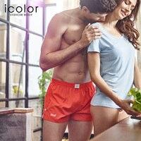 ICOLOR Men Underwear Shorts Solid Men Underpants Underwear Boxer Shorts Men Cotton Boxers Underwear Homme Homewear For Men QD070