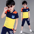 New Boys Summer Leisure Suit For Children Motorcycle Two Sets Children's Clothes Baby Child Kids