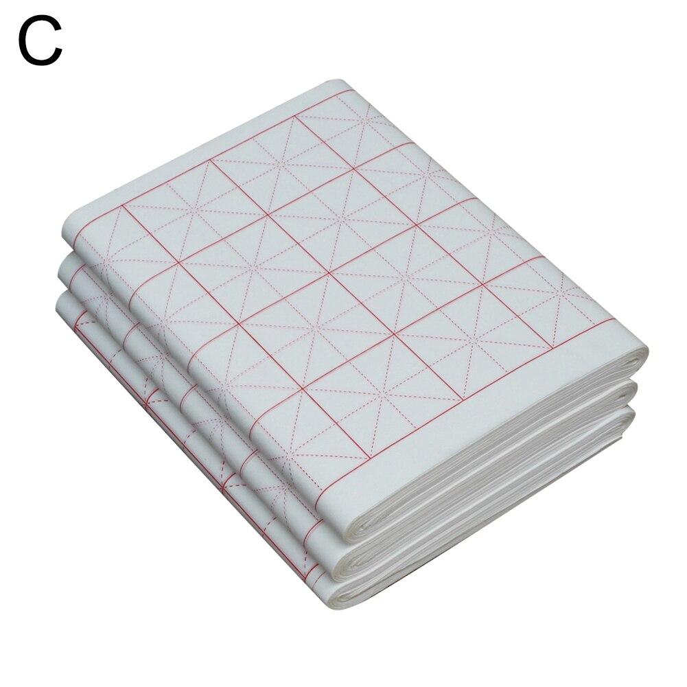 100 шт сырье/полусырье пересекающиеся каллиграфия рисовая практика суань бумага 2019HOT - Габаритные размеры: C