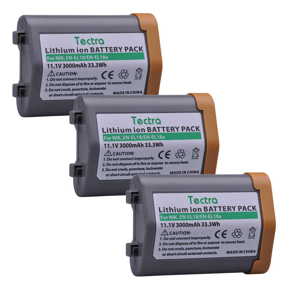 3Pcs Battery for Nikon EN-EL18, EN-EL18a, EN EL18a, ENEL18, EN EL18, ENEL18a, MH26a, MH-26a, MH-26 and Nikon D4, D4S, D5 Camera en