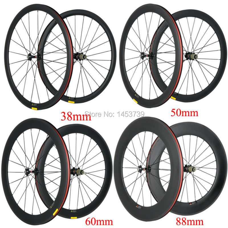 Ultra Light 38/50/60/88mm Clincher Carbon Wheelset Road Bike/Bicycle Wheel UD Matte Novatec 271 Hub Carbon Wheels 50mm clincher carbon bike wheel 25mm width bicycle wheel set novatec light weight hub 700c wheel set