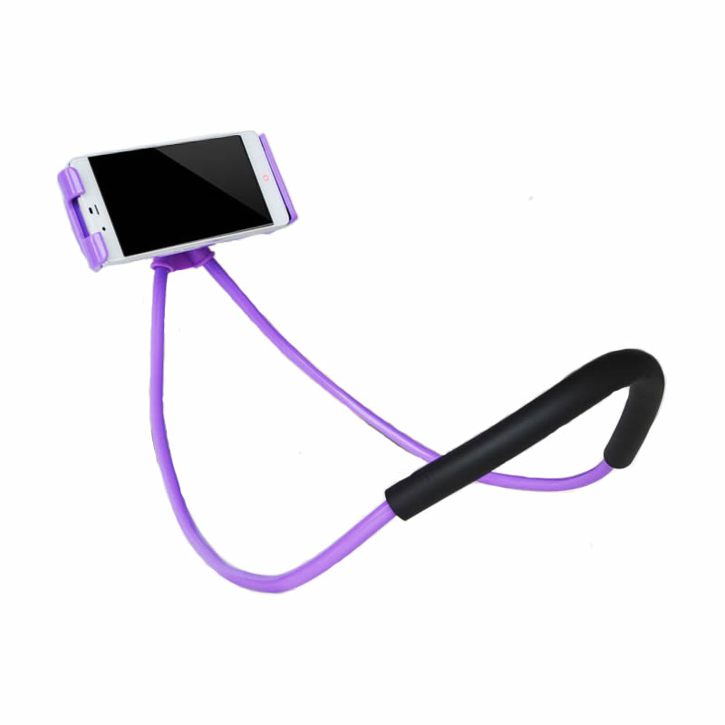 Lazy Bracket Universal 360 Degree Rotation Flexible Phone Selfie Holder Snake-like Neck Bed Mount Anti-skid For iPhone Android