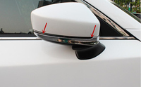 2pcs ABS Chrome Car Door Side Rearview Rear View Mirror Stripe Cover Trim For Mazda CX5