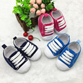 Venda quente Sapatos Bebes Bebê Boys & Girls Lace-Up Sapatilha Macia Sole Shoes Primeiro Walkers Sapatas de Lona