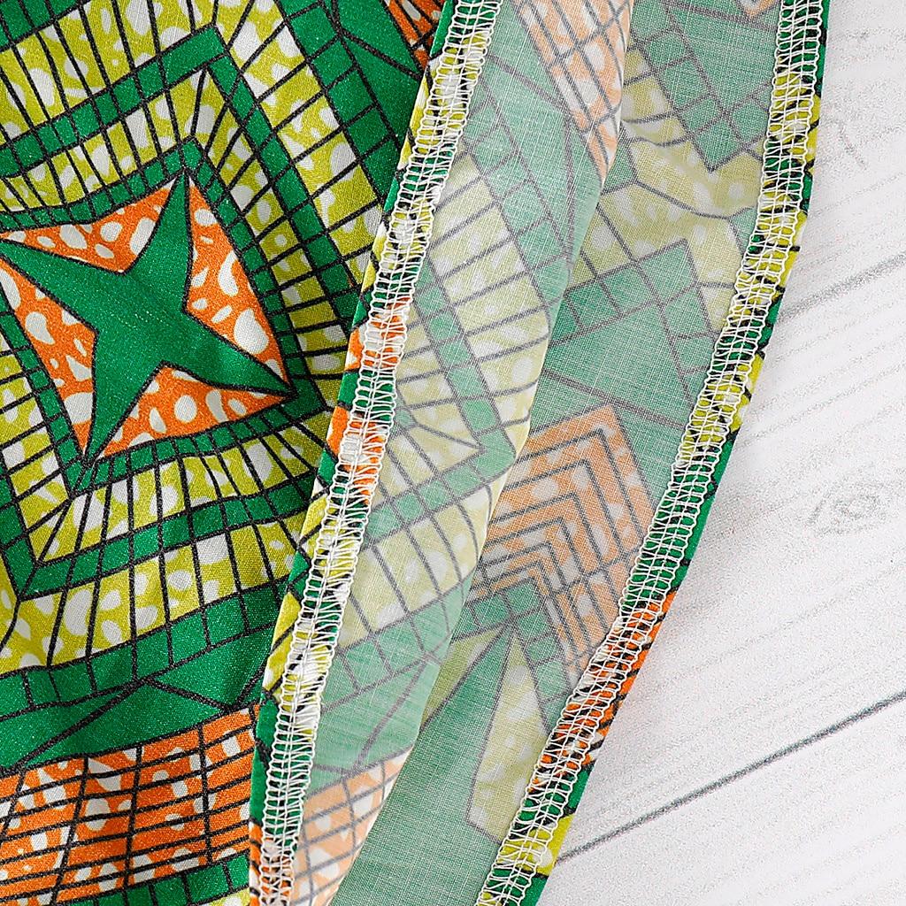 Toddler Kids Baby Girls Cotton African Skirt Headband Dashiki Print Clothing Set