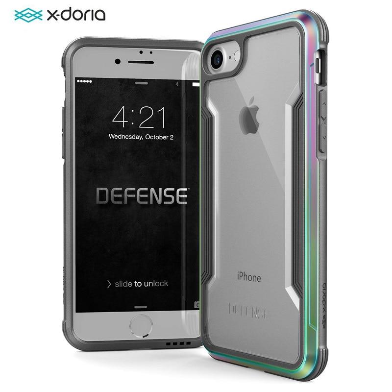X-Doria Défense Bouclier Téléphone Cas Pour iPhone 7 8 Plus Cas Militaire Baisse De Qualité Testés En Aluminium De Protection Coque pour iPhone 7 8