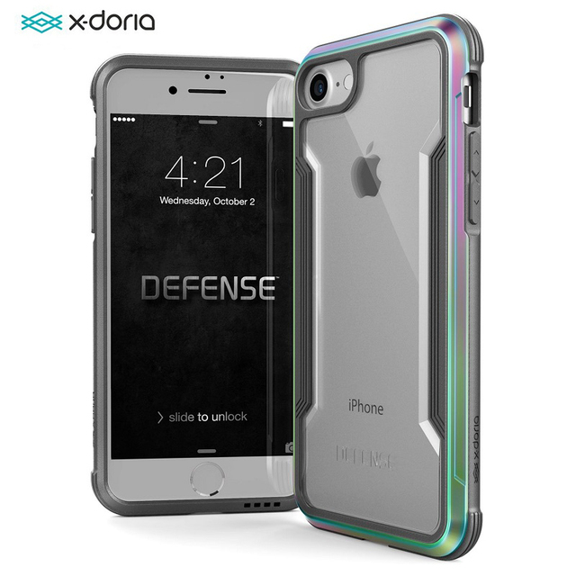 the best attitude 6d736 76658 US $23.96 29% OFF|X Doria Defense Shield Phone Case For iPhone 7 8 Plus  Case Military Grade Drop Tested Aluminum Protective Coque For iPhone 7 8  -in ...