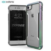 X ドリア防衛シールド電話ケース iphone 7 8 プラスケース軍事グレードテストアルミ保護 coque iphone 7 8