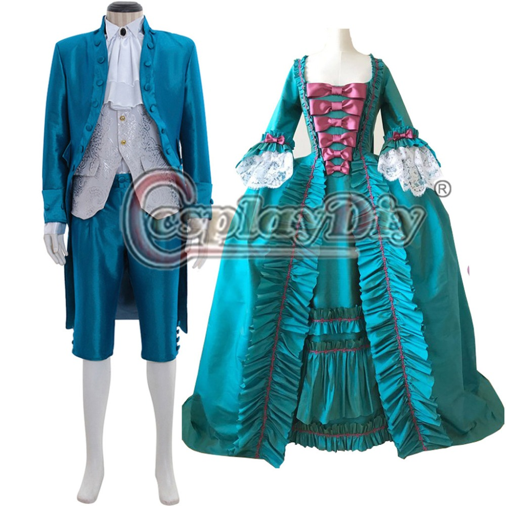 Home Cosplaydiy 18th Century Marie Antoinette Colonial Rococo Ball Gown Dress Adult Women Blue Belle Dress Wedding Dress L320
