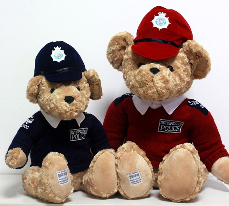 20 38cm Teddy Bear Dolls in Sweater Female Bear with Police Hat Ted Plush  Toys Soft Stuffed Animals Gift Boy s Doll-in Stuffed   Plush Animals from  Toys ... ce314cabf83c