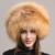 2016 Marca Mulheres Mongol Besty 100% Real Pele De Raposa De Prata Naturais chapéu com Um Rabo de Raposa da Senhora Chapéus de Inverno Quente Macio HairyCaps
