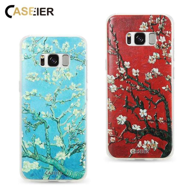 cca3d616a CASEIER Van Gogh Painting Phone Case For Samsung Galaxy S6 S7 Edge S8 Plus  Soft Silicone