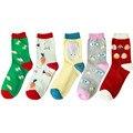 5 Styles Women Socks Cute Cartoon Designs Rabbit Easter Food Funny Socks Bunny Calcetines 35-39 EU ( 5 pairs/lot) no gift box