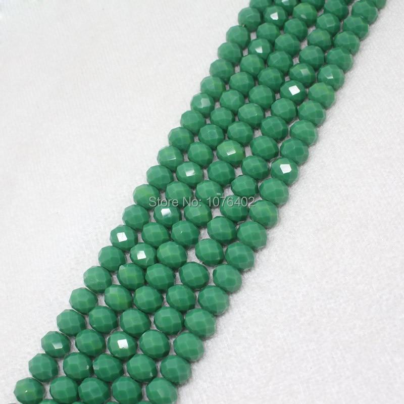 ᑎ‰Mini. order es $7! 8x10mm facetadas verde cristal redondo flojo ...