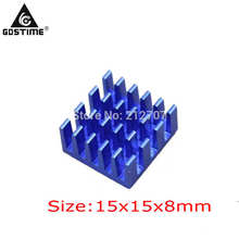 8pcs/set  Blue IC LED VGA Card DDR Xbox360 Heat Sink Cooling Cooler Heatsinks 15 x 8mm