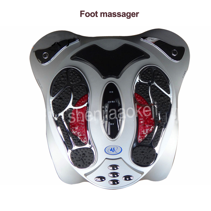 цена на 1pc Electric Foot Massager Far Infrared Heat Electromagnetic Points Reflexology Feet Massage Machine physiotherapy instrument