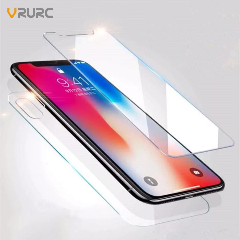 VRURC Tempered Glass For iPhone i6 i6s i7 i8 4 4s IX 10 glass i6 i6s i7 i8 Plus Screen P ...
