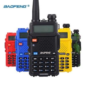 Image 3 - BaoFeng walkie talkie UV 5R zwei weg cb radio upgrade version baofeng uv5r 128CH 5W VHF UHF 136 174 mhz & 400 520Mhz