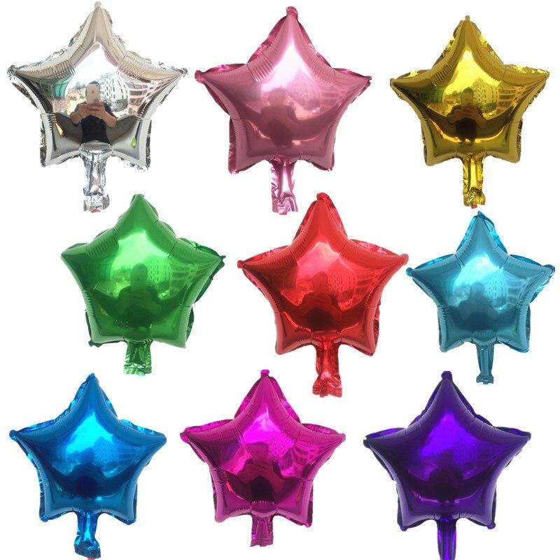 Ücretsiz Kargo Yeni 10 adet/lots10inch pentagram alüminyum balonlar doğum günü partisi dekorasyon balon oyuncak çocuklar için toptan