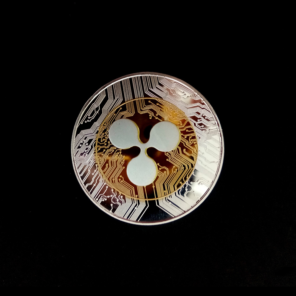 Two-color Ripple Coin Virtual Collection Commemoration Antique Imitation Home Party Decoration Replica
