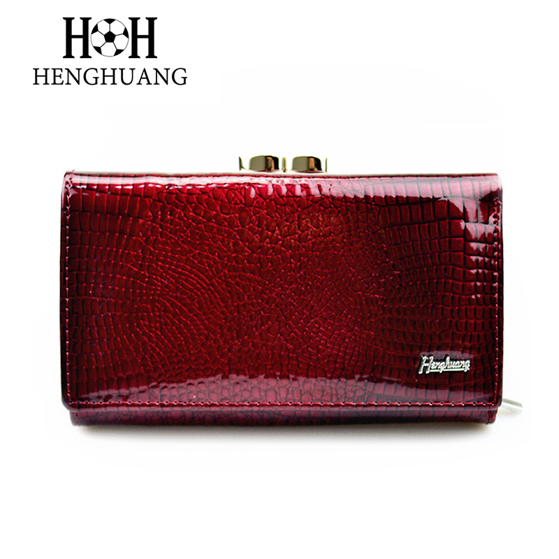 HH Women Luxury Brand Fashion Genuine Leather Short Wallet Female Alligator Hasp Lady Coin Purse Purses