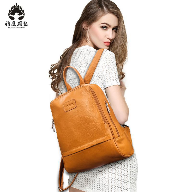 2018 New Brand Women Backpack Genuine Leather School Backpacks For Teenage Girls Casual Large Capacity Shoulder Bags laptop keyboard for sony svd13 svd13228scw series us sliver without frame 149245411us