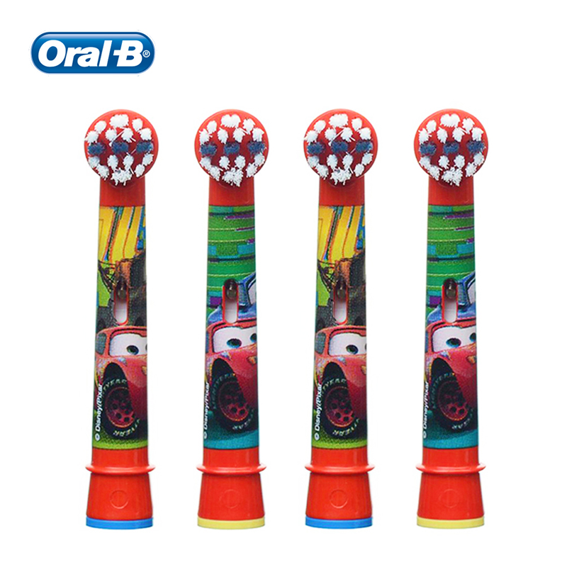 Oral B EB10 Replacement Brush Heads 2/4 Pcs Cars McQueen Extra Soft Bristles for Most Oral B kids Electric Toothbrushes image