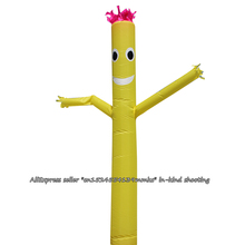 Air Dancer Sky Dancer Inflatable Tube Dance Puppet Wind Flying 10ft For 12inch Blower (Yellow)