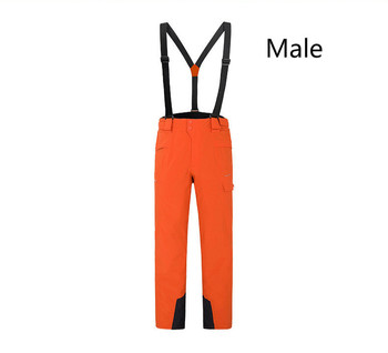 Winter outdoor Snowboarding  Men Women warm Wear-resistant waterproof windproof skiing pants With Shoulder Straps