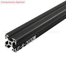 Произвольная резка 1000 мм 3030 Вт Черный алюминиевый экструзионный профиль, черный цвет