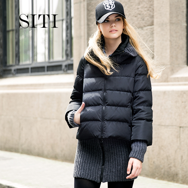Aliexpress.com : Buy SITI NEW Collar thickened short down jacket