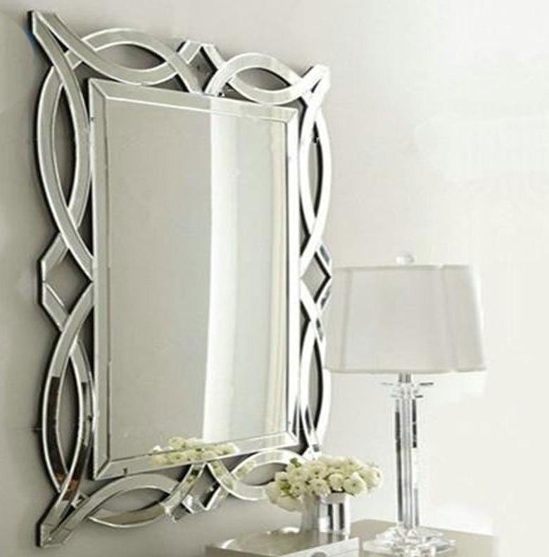 luxuriöse große hängende glaskunst großes badezimmer wandspiegel in ...