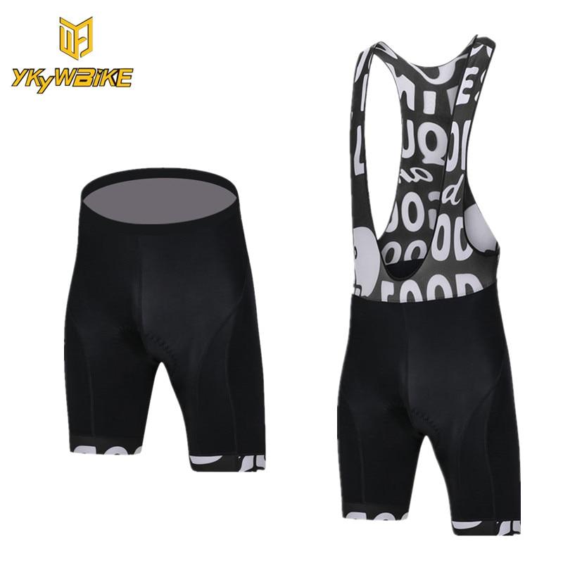 YKYWBIKE 2018 Quick Dry Mesh Brace Jersey Mtb Shorts Man Bib Short Bicycle Cycling Shorts Men