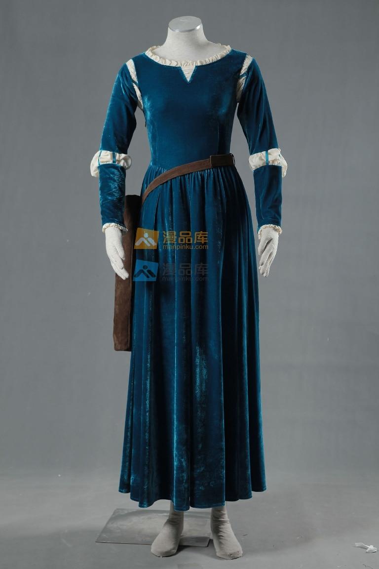 Female Princess Merida Adult Costume Brave Merida Cosplay Dress Film