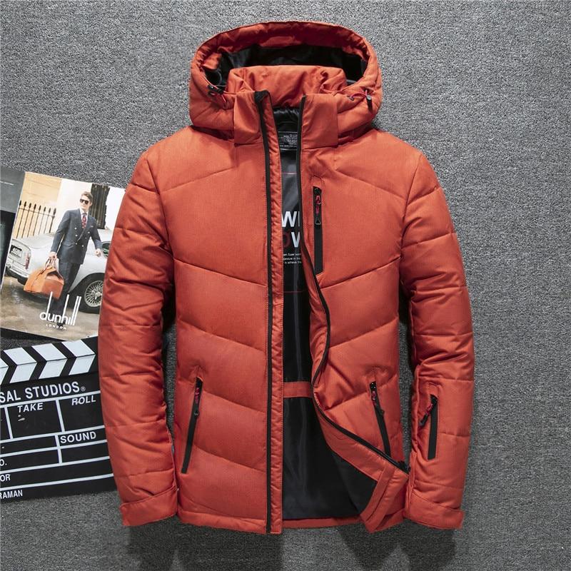 2019 High Quality men's winter jacket white duck   down     coats   men fashion brand Tace & Shark thick snow overcoat   down   jacket men
