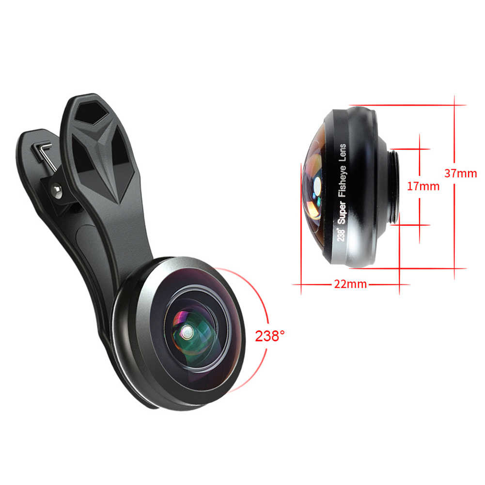 Телефонные постоянные аксессуары камера 0,2X238 градусов Оптическое стекло универсальная мини полная Рамка Подарок Профессиональный широкий угол