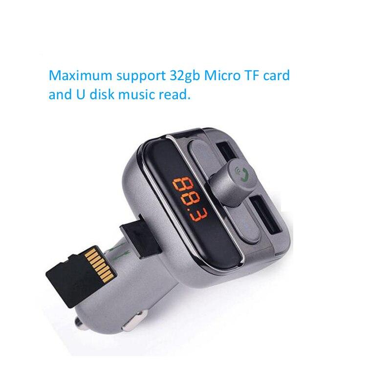 INGMAYA Car Mp3 Player Charger 2 USB 3.4A U Disk TF Card Bluetooth - Reservdelar och tillbehör för mobiltelefoner - Foto 6