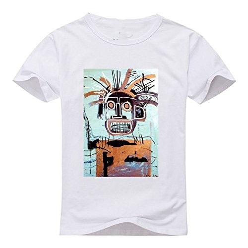 100% Cotton Geek Family Top Tee Crew Neck Men Jean Michel Basquiat Short-Sleeve Summer Tee Shirt