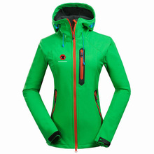 2019 Winter Women Soft shell Outdoor Waterproof Ski Jacket Fleece Thermal Waterproof Coat Outdoor Camping Hiking Female Jacket