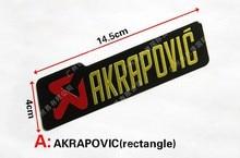2 pcs 3D Aluminum Heat-resistant Aluminium Motorcycle Exhaust Pipes Decal Sticker For Scorpio Yoshimura Akrapovic