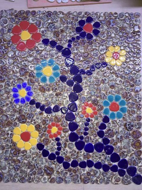 Neue Ankunft Kunden Porzellan Blume Kunst Keramik Mosaik Fliesen  Swimmingpool Wand Boden Fliesen Küche Backsplash