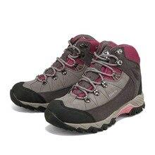 2016 Mulheres Botas de Caminhada Clorts 3B010A de Borracha À Prova D' Água Sapatos de Caminhada de Couro Mid-cut Mulher Sapatos Esportes Ao Ar Livre(China (Mainland))