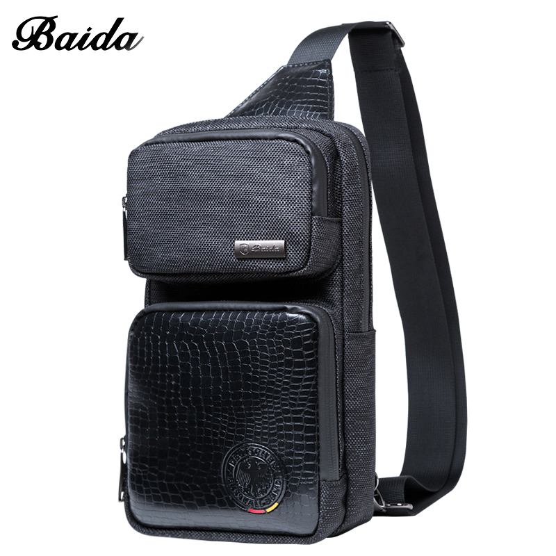 BaiDa Hot Πώληση Πακέτο Μέση Υψηλής ποιότητας μόδας Business Τσάντα στο στήθος Γυναικεία Unisex Τσάντες Mens Τσάντες Style Ευρώπης