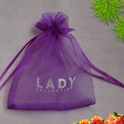 Organza Drawstring Bag print fee $49 design fee for plastic bag usd50